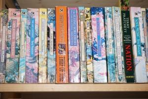 Pratchett on shelf