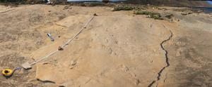 Trachilos footprints Andrzej Boczarowski